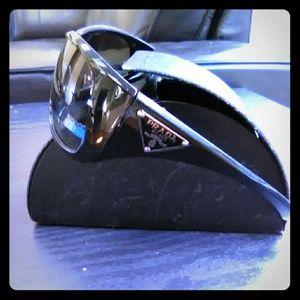 TRADE Prada wrap shield sunglasses